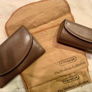 Coach key wallet and lipstick case